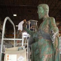 Alessandro Fagioli Fase di Restauro statue Duomo Aosta 10