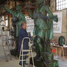 Alessandro Fagioli Fase di Restauro statue Duomo Aosta 11