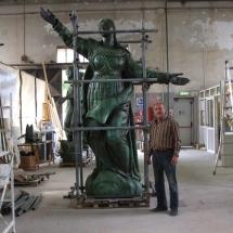 Alessandro Fagioli Fase di Restauro statue Duomo Aosta 12