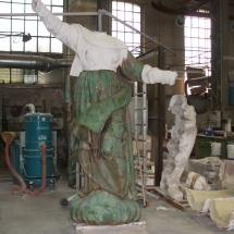 Alessandro Fagioli Fase di Restauro statue Duomo Aosta 3