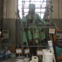 Alessandro Fagioli Fase di Restauro statue Duomo Aosta 4