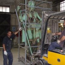 Alessandro Fagioli Fase di Restauro statue Duomo Aosta 5