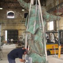 Alessandro Fagioli Fase di Restauro statue Duomo Aosta 8
